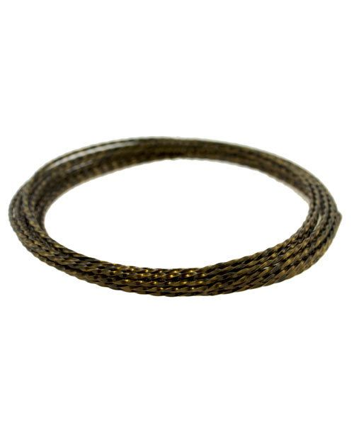 WR6318V = CRAFT WIRE TWISTED SQUARE Vintage Bronze Color 18ga 2.6yd SPOOL