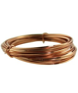 WR6218C = CRAFT WIRE SQUARE COPPER 18ga 7yd SPOOL