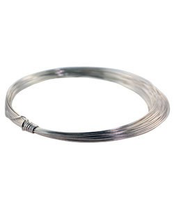WR6121S = CRAFT WIRE 1/2 ROUND SILVER PLATED 21ga 4yd SPOOL