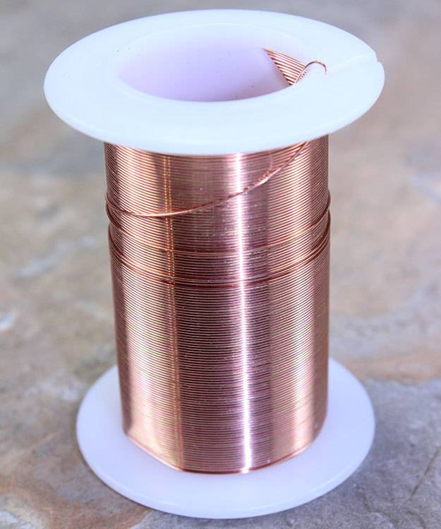WR6026C = Tarnish Resistant Craft Wire Copper Color 26ga - 34yd Spool