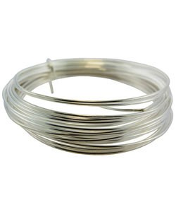 WR5518S = German Style Wire 18ga ROUND SILVER PLATED 4 METER COIL