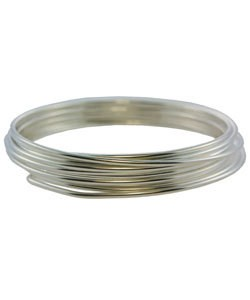 WR5514S = GERMAN STYLE WIRE 14ga ROUND SILVER PLATED 1.8 METER COIL