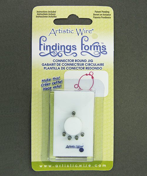 WR138 = Findings Forms by Artistic Wire, Round Connector 1:5  Jig