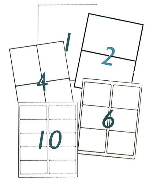 SW200 = LABELS for PRINTING SAWING TEMPLATES (Pkg of 5)