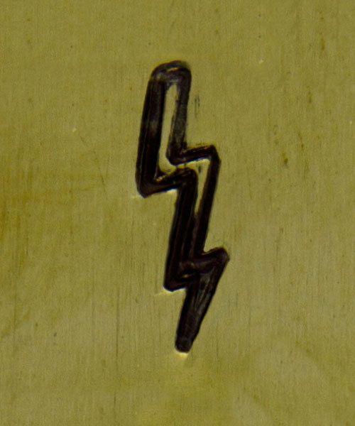 PN5041 = SOUTHWEST DESIGN STAMP - Lightning bolt