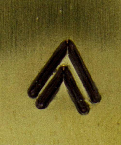 PN5007 = NATIVE AMERICAN DESIGN STAMP - Double ''V''