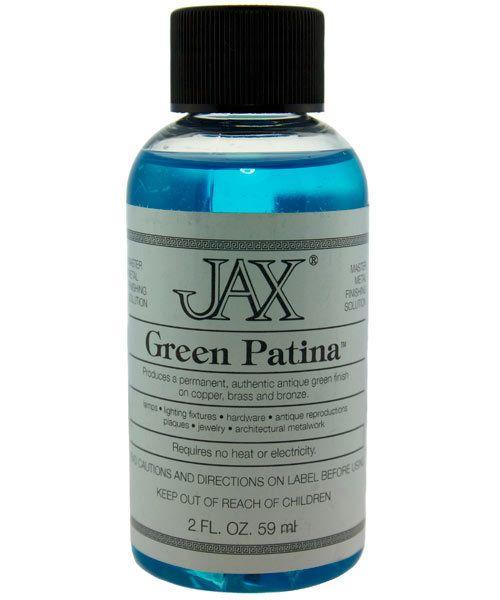 PM9000 = Jax Green Patina for Copper, Brass & Bronze 2oz Bottle