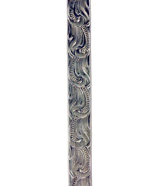 NPW303 = Nickel Silver Pattern Wire - SCROLL 1.27 x 5.34mm - 3 foot piece
