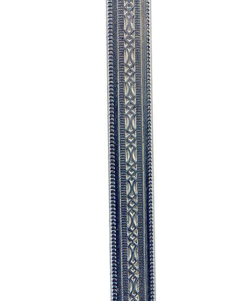 NPW301 = Nickel Silver Pattern Wire - MINI BEADED 1.02 x 5.08mm - 3 foot piece