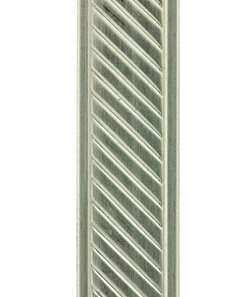NPW107 = Nickel Silver Pattern Wire - SLANT with BORDER 1.27 x 11.12mm - 1 foot piece