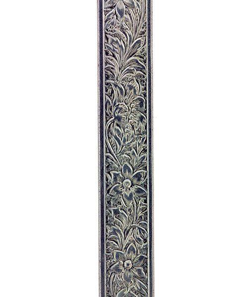 NPW105 = Nickel Silver Pattern Wire - FLOWER 0.89 x 7.64mm - 1 foot piece