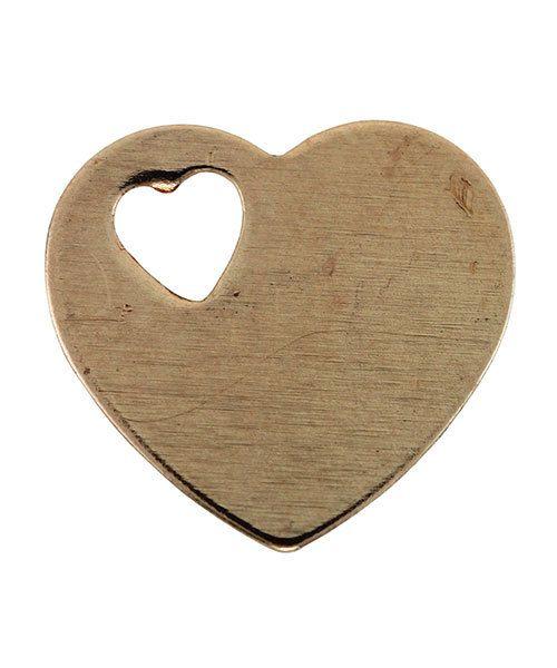 MSC70924 = Copper Shape - Heart with Cutout Heart 11 x 12mm (Pkg of 6)