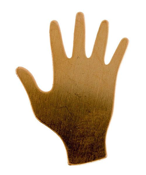 MSC59424 = COPPER SHAPE - HAND 3/4'' x 7/8''  24ga (Pkg of 6)