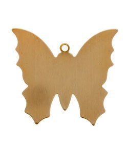 MSC54124 = COPPER SHAPE - BUTTERFLY with RING 24ga 1-3/8'' X 1-1/4''  (Pkg of 6)