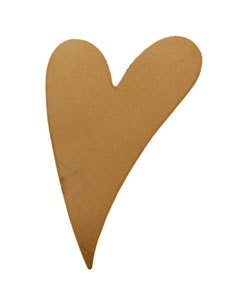 MSC42624 = COPPER SHAPE - HEART 24 ga 1-7/16'' x 1''   (Pkg of 6)