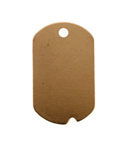 MSC37524 = COPPER SHAPE - DOG TAG with HOLE 24ga 1-1/4'' x 3/4'' (Pkg of 6)