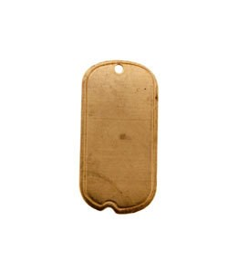 MSC37424 = COPPER SHAPE - DOG TAG with HOLE 24ga 3/4'' x 1/2'' (Pkg of 6)