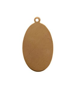 MSC20724 = COPPER SHAPE - OVAL with RING 24ga 1'' x 5/8'' (Pkg of 6)