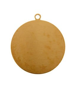 MSC11424 = COPPER SHAPE - ROUND with RING 24ga 1'' (Pkg of 6)