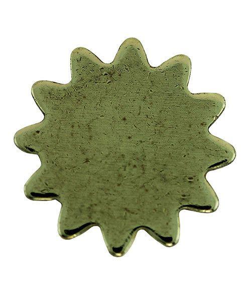 MSBR71724 = Brass Shape - Sun 11mm (Pkg of 6)