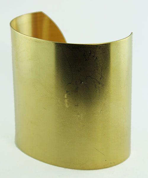 MSBR1020 = Flat Brass Cuff Bracelet 2'' Wide