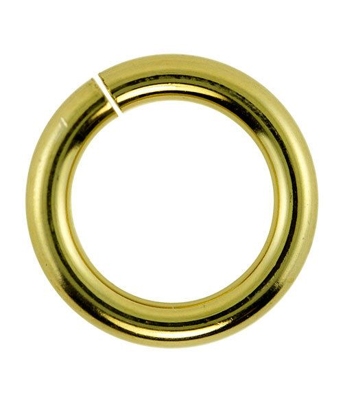 906BR-10.0 = Jumplock Jump Rings 10.0mm OD Anti-Tarnish Brass (Pkg of 50)