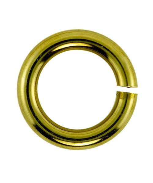 906BR-6.0 = Jumplock Jump Rings 6.0mm OD Anti-Tarnish Brass (Pkg of 200)