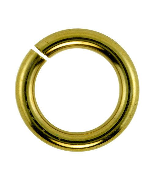 906BR-8.0 = Jumplock Jump Rings 8.0mm OD Anti-Tarnish Brass (Pkg of 100)