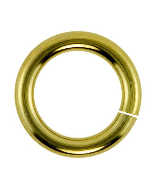 906GP-10.0 = Jumplock Jump Rings 10.0mm OD Gold Plate Over Brass (Pkg of 20)