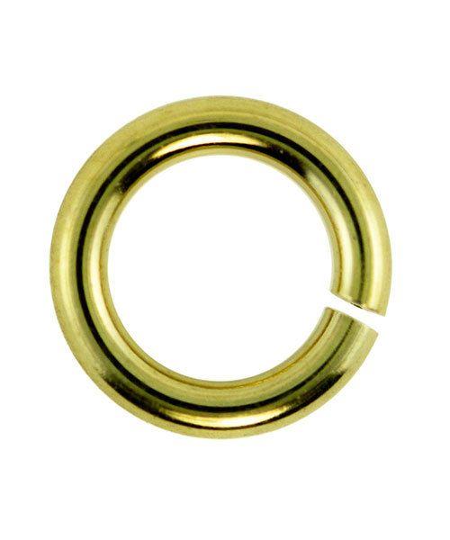 906GP-6.0 = Jumplock Jump Rings 6.0mm OD Gold Plate Over Brass (Pkg of 100)