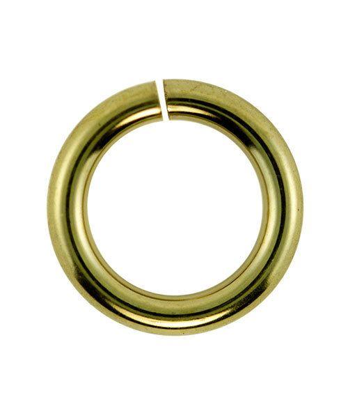 906GP-8.0 = Jumplock Jump Rings 8.0mm OD Gold Plate Over Brass (Pkg of 50)