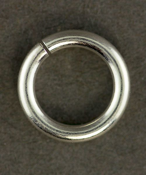 906SP-10.0 = Jumplock Jump Rings 10.0mm OD Silver Plated (Pkg of 20)