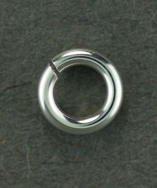 906SP-4.0 = Jumplock Jump Rings 4.0mm OD Silver Plated (Pkg of 200)
