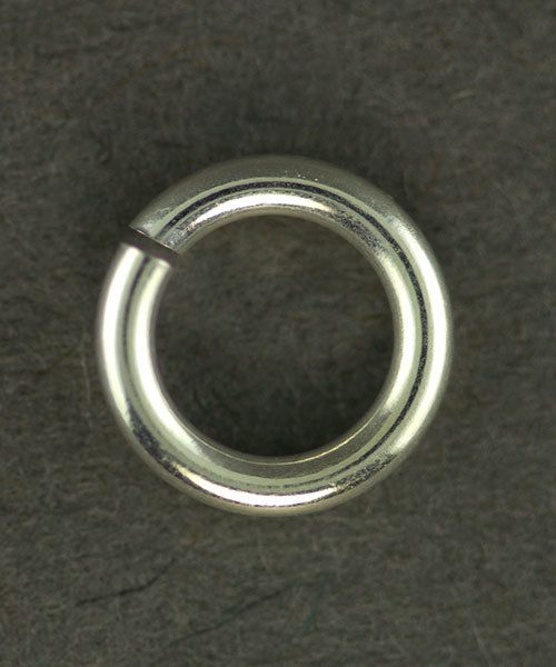 906SP-6.0 = Jumplock Jump Rings 6.0mm OD Silver Plated (Pkg of 100)