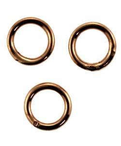907CU-6.0 = Copper Jump Ring 6.0mm OD x .036'' Soldered Closed (Pkg of 50)