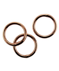 907CU-8.0 = Copper Jump Ring 8.0mm OD x .040'' Soldered Closed (Pkg of 50)