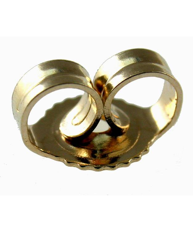 909-05 = Medium Weight Friction Earring Back 14KY Gold