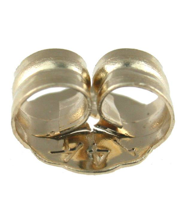 909-24 = Security Earring Back Push On/Screw Off 14KY Gold