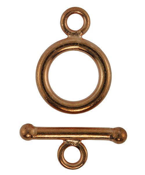 911CU-53 = Copper Round Toggle Clasp 9mm (Pkg of 6)