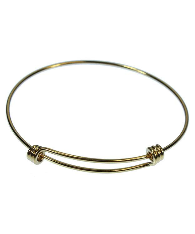980GP-50 = Gold Plated Adjustable Wire Bangle 8-9.5''  14ga Wire