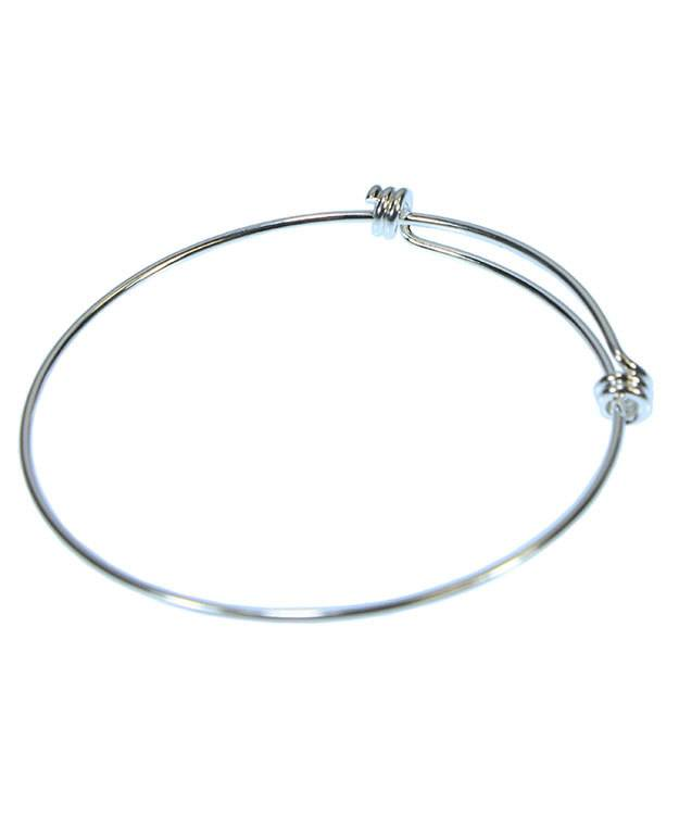 980SP-50 = Silver Plated Adjustable Wire Bangle 8-9.5''  14ga Wire