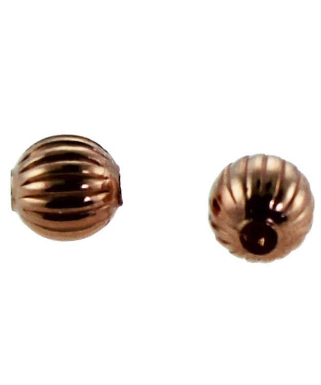 ABCU-C03 = Copper Corrugated Round Beads 3.2mm (Pkg of 100)