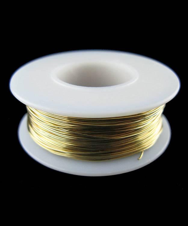 "BRW24 = Red Brass Round Wire 0.51mm(.020"")  1/4lb Coil"