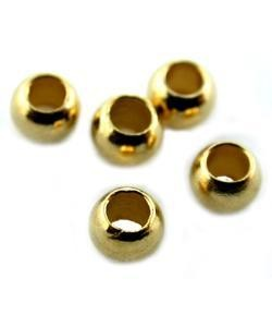 585C-03 = CRIMP BEADS GOLD - PLATED #3, 3.0mm (100)