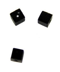5140CB-92 = Bead Bumper 1.7mm CUBE BLACK (Pkg of 50)