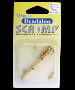 585C-83 = Beadalon Scrimps Kit 3.5mm Oval Gold Plated