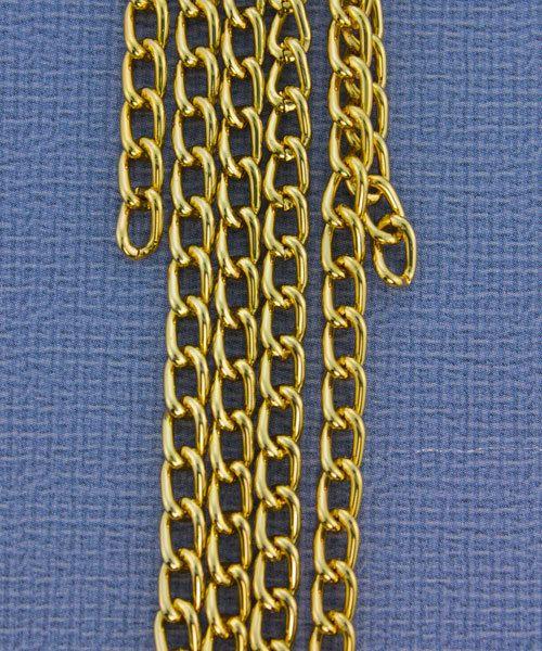 800AL-063BG = Aluminum Curb Chain Bright Gold 6 x 3.6mm Wide 5 feet Long