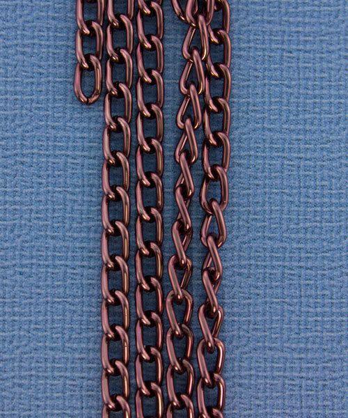 800AL-063BR = Aluminum Curb Chain Brown 6 x 3.6mm Wide 5 feet Long