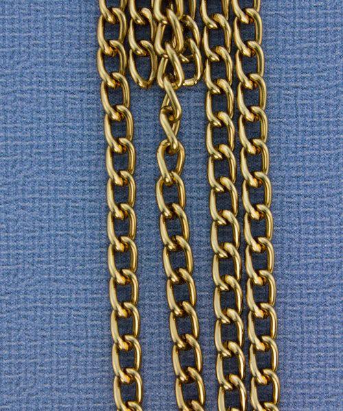 800AL-063LC = Aluminum Curb Chain Light Copper 6 x 3.6mm Wide 5 feet Long