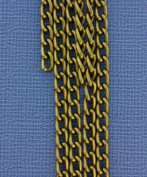800AL-063MG = Aluminum Curb Chain Matte Gold 6 x 3.6mm Wide 5 feet Long